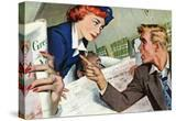 "The Passenger Hated Redheads  - Saturday Evening Post ""Leading Ladies""  August 13  1949 pg24"