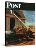 """Storing the Corn "" Saturday Evening Post Cover  November 6  1948"