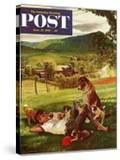 """Dog Days of Summer"" Saturday Evening Post Cover  June 25  1955"