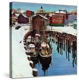 """""""Gloucester Harbor in Winter """" February 4  1961"""