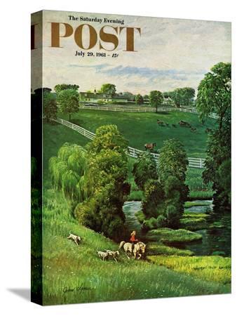 john-clymer-green-kentucky-pastures-saturday-evening-post-cover-july-29-1961