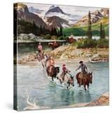"""Horseback Riding in Glacier Park "" July 30  1960"