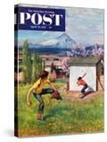 """Oregon Baseball"" Saturday Evening Post Cover  April 21  1951"