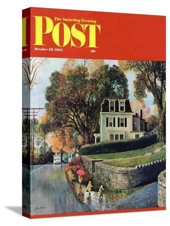 john-clymer-walking-home-in-the-rain-saturday-evening-post-cover-october-20-1962