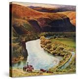 """Yakima River Cattle Roundup""  May 10  1958"