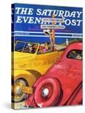 """""""World's Fair or Bust """" Saturday Evening Post Cover  April 22  1939"""