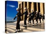 Changing of Guard at Anit Kabir Mausoleum at Ataturk Monument  Ankara  Turkey