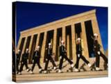 Changing of the Guard at Ataturk Monument  Anit Kabir Mausoleum  Ankara  Turkey