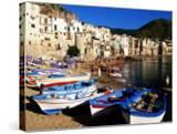 Fishing Boats on Beach at Seaside Resort  Cefalu  Italy