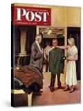 """""""Choosing a New Suit """" Saturday Evening Post Cover  November 20  1948"""