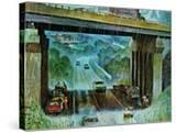 """Convertibles Take Cover in Rain "" September 15  1962"