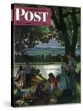 """Evening Picnic "" Saturday Evening Post Cover  June 4  1949"