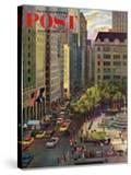 """Fifth Avenue "" Saturday Evening Post Cover  March 19  1960"