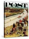 """Foxhunters Outfoxed "" Saturday Evening Post Cover  December 2  1961"