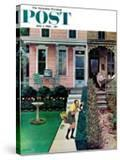 """""""Tidy and Sloppy Neighbors """" Saturday Evening Post Cover  July 1  1961"""