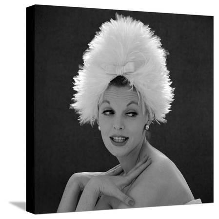 john-french-white-feathered-hat-1960s