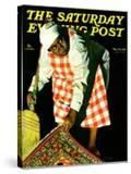 """""""Sweep it Under the Rug """" Saturday Evening Post Cover  May 24  1941"""