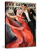 """Ballroom Dancing "" Saturday Evening Post Cover  April 10  1937"
