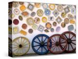 Ceramic Plates and Wagon Wheels  Algarve  Portugal