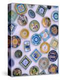 Ceramic Plates on Shop Wall  Algarve  Portugal