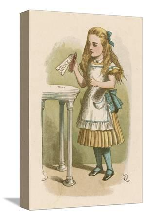 john-tenniel-alice-holds-the-bottle-which-says-drink-me-on-the-label