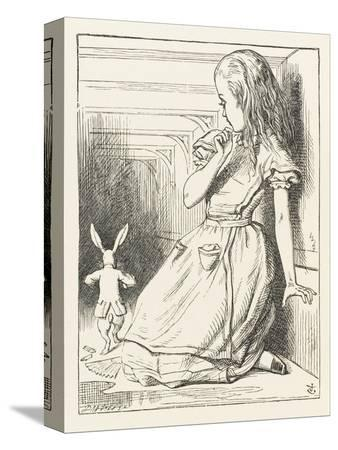 john-tenniel-alice-watches-the-white-rabbit-disappear-down-the-hallway