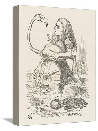 john-tenniel-croquet-alice-with-the-flamingo