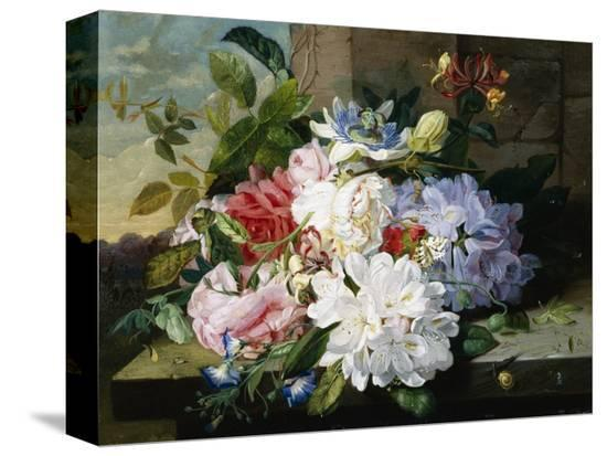 john-wainwright-a-pretty-still-life-of-roses-rhododendron-and-passionflowers