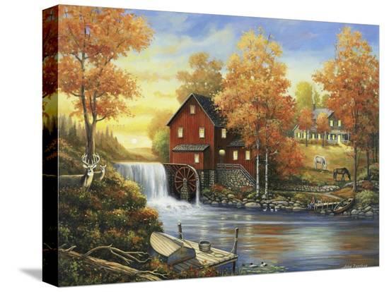 john-zaccheo-autumn-sunset-at-the-old-mill