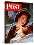 """Lighting His Cigarette "" Saturday Evening Post Cover  October 23  1943"