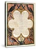 Page from a Hebrew Bible with Birds  1299