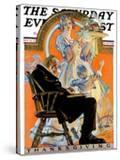 """""""Childhood Thanksgiving """" Saturday Evening Post Cover  November 26  1927"""
