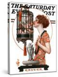 """""""Easter  1923 """" Saturday Evening Post Cover  March 31  1923"""