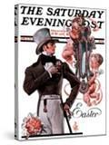 """""""Easter Finery """" Saturday Evening Post Cover  April 11  1925"""