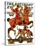 """""""Fall Foxhunting """" Saturday Evening Post Cover  October 19  1929"""