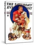 """Football Hero "" Saturday Evening Post Cover  November 4  1933"