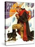 """""""George Washington at Valley Forge """" Saturday Evening Post Cover  February 23  1935"""