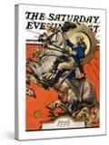 """George Washington on Horseback "" Saturday Evening Post Cover  July 2  1927"