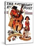 """God Rest Ye Merrie Gentlemen "" Saturday Evening Post Cover  December 24  1932"