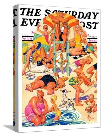 joseph-christian-leyendecker-king-of-the-beach-saturday-evening-post-cover-september-3-1932