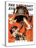 """""""Ringing Liberty Bell """" Saturday Evening Post Cover  July 6  1935"""