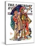 """Roman Costumes "" Saturday Evening Post Cover  March 10  1934"