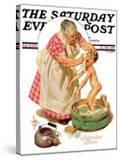 """Saturday Night Bath "" Saturday Evening Post Cover  September 24  1932"