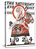 """""""Sir Baby New Year """" Saturday Evening Post Cover  December 29  1923"""