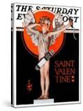 """""""St Valentine  1924 """" Saturday Evening Post Cover  February 16  1924"""