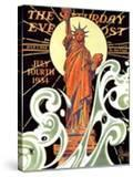 """""""Statue of Liberty """" Saturday Evening Post Cover  July 7  1934"""