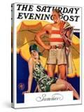 """""""Summertime  1927 """" Saturday Evening Post Cover  August 27  1927"""