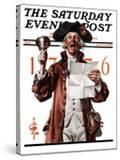 """""""Town Crier """" Saturday Evening Post Cover  July 4  1925"""