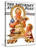 """""""Trimming the Pie """" Saturday Evening Post Cover  November 23  1935"""
