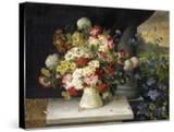 Daisies  Hydrangea  Poppies  Carnations and other Flowers in a Vase